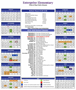 Enterprise 6 Day Yearly Calender