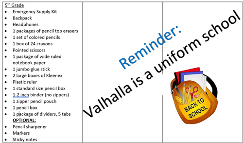 5th and uniform reminder
