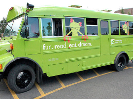 The FRED Bus is coming to Enchanted Woods, Monday-Thursday, June 24-August 1, 10:45-Noon!
