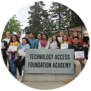 Group of scholars at Technology Access Foundation Academy