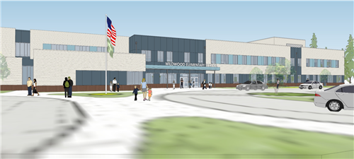 exterior design of the new Wildwood Elementary