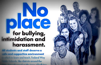 No Place for Bullying, intimidation and harassment