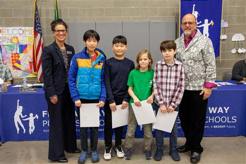 Math Contest winners