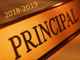 2018-2019 Principal Announcement