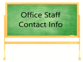 Office Staff Contact Info
