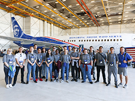 Scholars attend Alaska Airlines Aviation Day