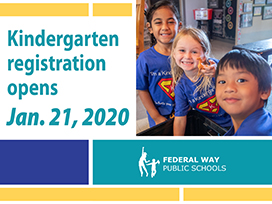 Kindergarten Registration opens Jan. 21, 2020