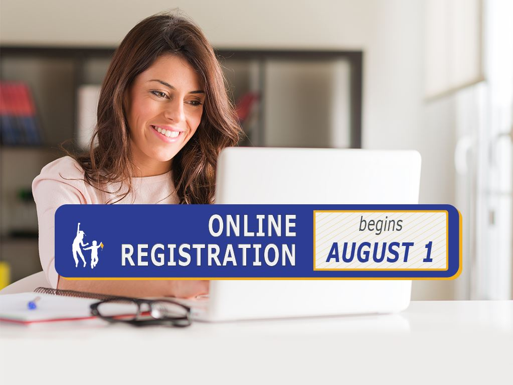 Online Registration Opens August 1!