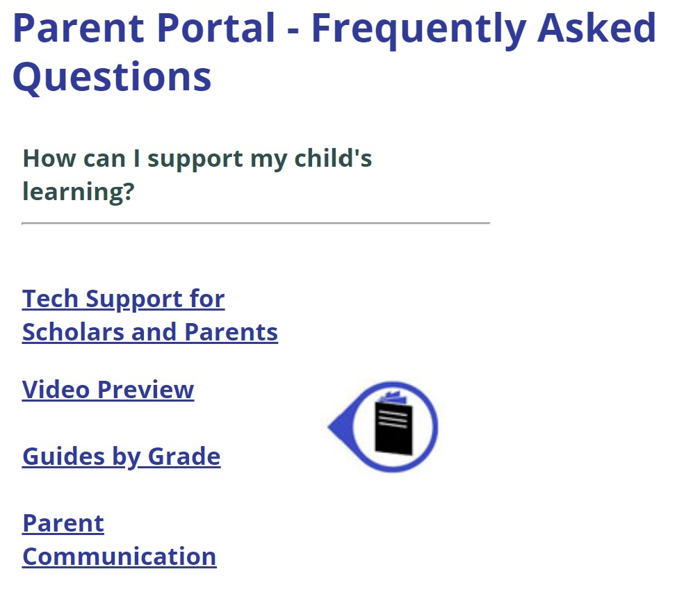 Parent Portal Technology Support