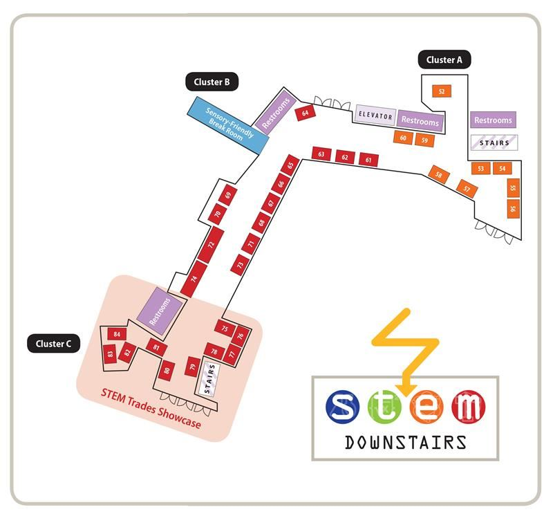 STEM Expo Downstairs Map