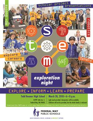 Second annual STEM Exploration Night Flyer