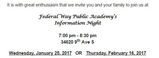 FWPA's first 2017 information night it January 25th 2017
